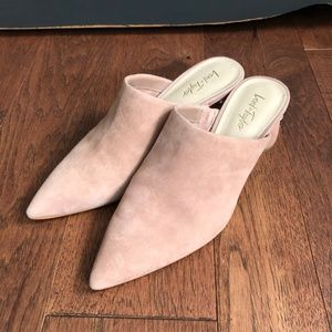 Lord & Taylor Shoes - Lord & Taylor Pointed Nude Pearl Encrusted Mules